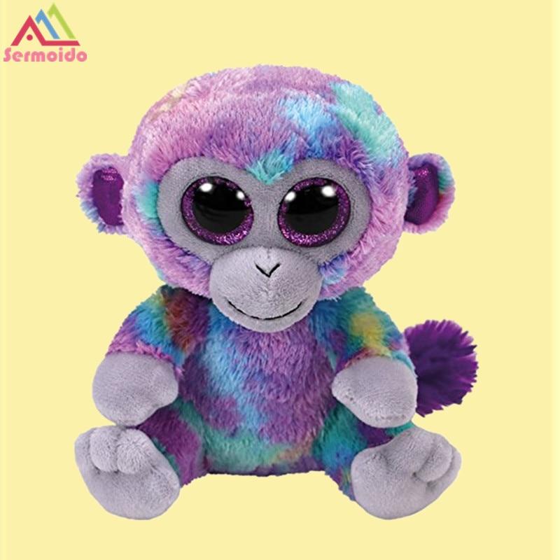 Sermoido Ty Beanie Babies Zuri обезьяна reg 6 регулярные чучело Коллекционная мягкие игрушки куклы для детей