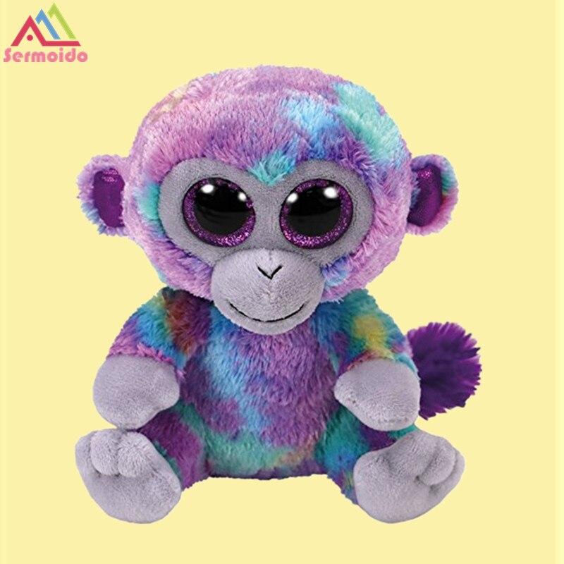 sermoido TY Beanie Babies Zuri The Monkey reg 6 Regular Stuffed Animal Collectible Soft Doll Toy For Children