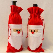 Bags Wine-Bottle-Cover Dinner-Decoration Christmas Red Santa-Claus Hot New