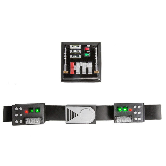 Star Wars Darth Vader Belt And Chest Plate Cosplay Prop Set Movie Cosplay Costume Accessories Party Cosplay Belts With LED Light 1