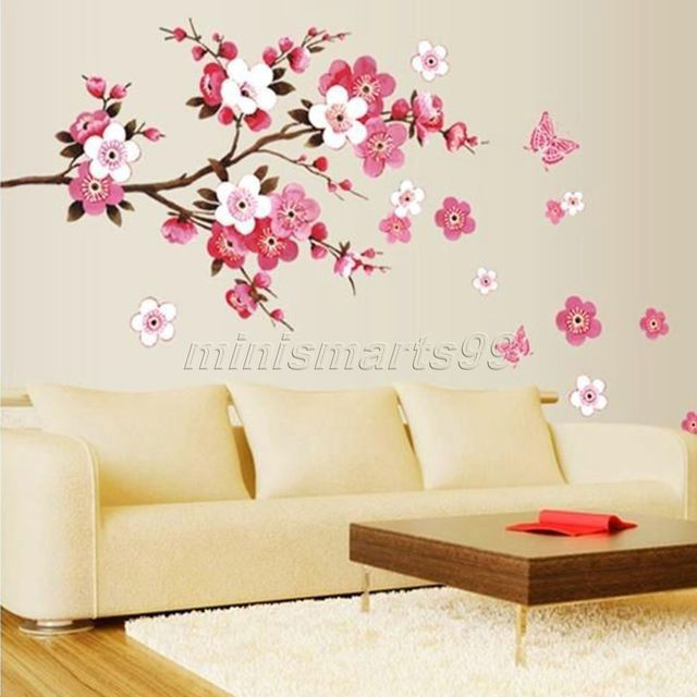 Sakura Flower Erfly Cherry Blossom Wall Decal Nursery Tree Flowers Art Kids Room Sticker