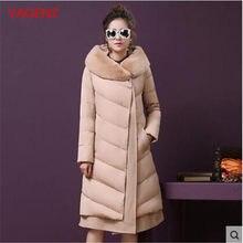 Haute couture Frauen mantel größe winterjacke Neue Verdickung Super warm mantel  Schwere haar kragen Mit Kapuze Winter kleidung K.. 378bb65669