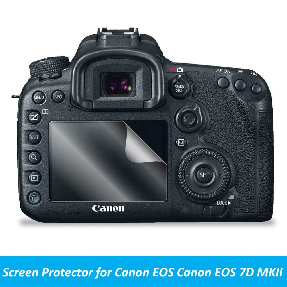 2pcs Anti-Scratch LCD Screen Protector Guard Shield PET Film for Canon EOS 7D MKII Camera Accerrories