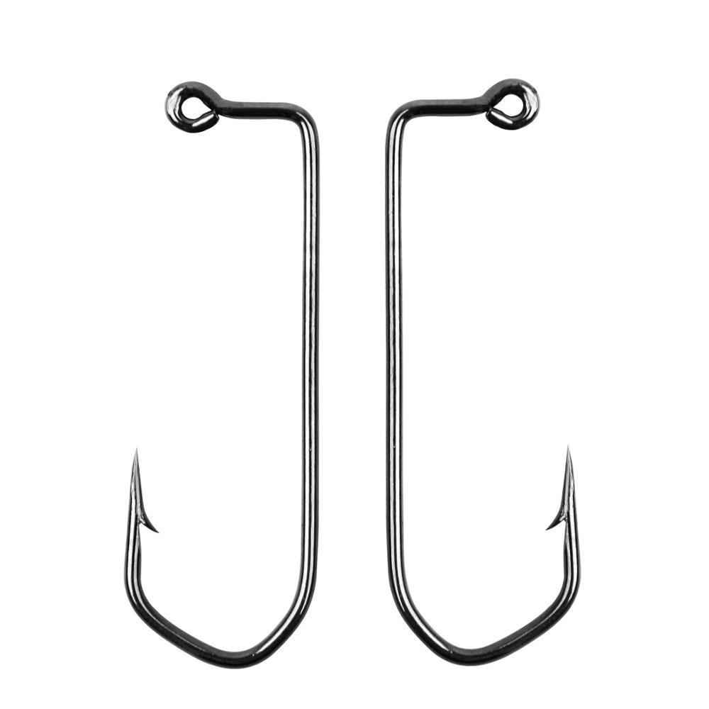 200pcs/lot Aberdeen Jig Fishing Hooks High Carbon Steel Fishing Hook Barbed 90 Degree for Crankhook Worm Lure Hook|Fishhooks| - AliExpress