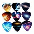 Soach 10 unids 0.71mm planeta universo dos laterales pendientes pick diy diseño accesorios de guitarra pick selecciones de la guitarra
