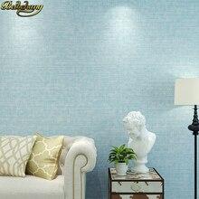 цена beibehang papel de parede 3d Linen straw Nonwoven Wallpaper Bedroom Dinning room Living room TV background wall paper home decor онлайн в 2017 году
