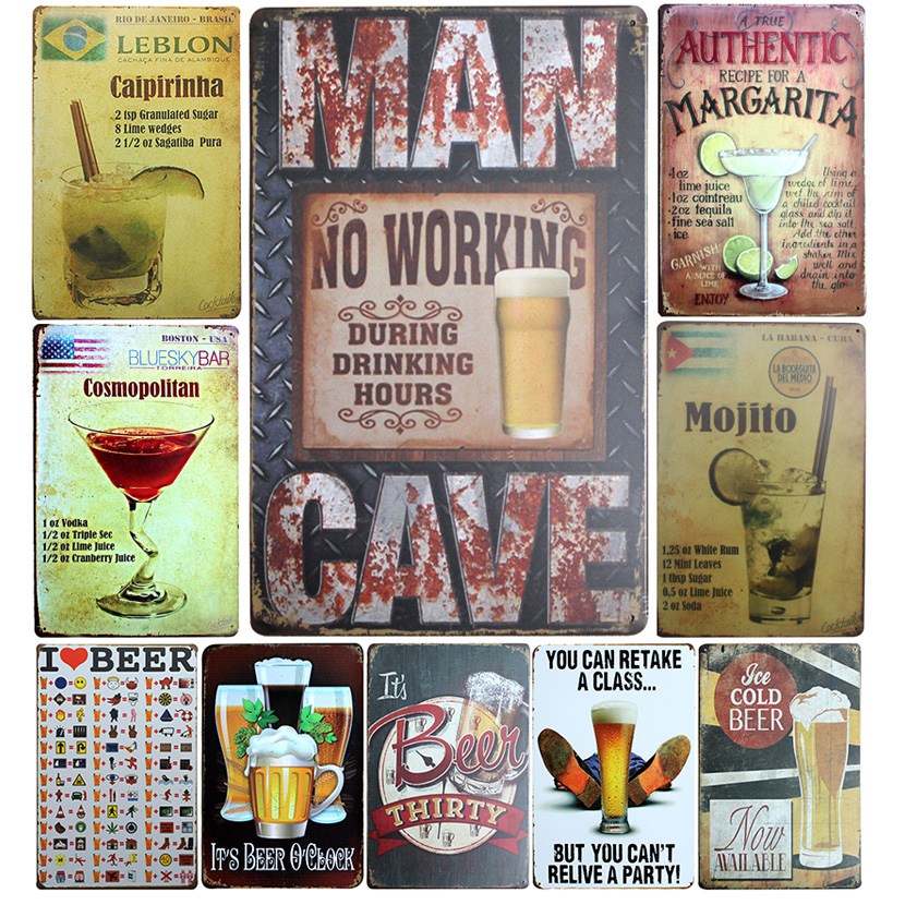 √ Popular metal sign tin beer and get free shipping - 6c2enc69