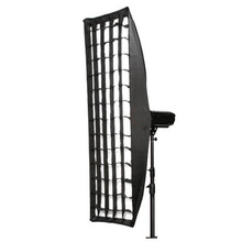 Strip Light Softbox with Grid and Speedring for Nikon, Canon SpeedLight and Studio Strobe Photographic equipment 35*140cm CD50
