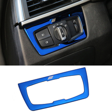 For BMW F30 F34 320i 3 series Accessories Stainless steel Headlight Switch Buttons Decor Cover font