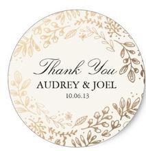 Классическая круглая наклейка на свадьбу с изображением цветов урожая 1,5 дюйма