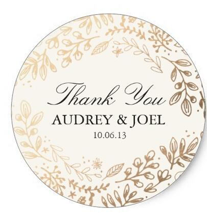 1.5inch Harvest Flowers Wedding Classic Round Sticker