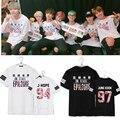 Kpop BTS Bangtan Мальчики часть Любовное настроение Молодой Навсегда 2016 альбом с коротким рукавом Футболки k-pop Повседневная лето футболка Мужская Футболка
