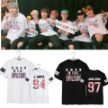 Kpop BTS Bangtan Meninos parte Mood for Love Forever Young 2016 álbum T-shirt k-pop Casual verão camiseta de manga curta Camiseta Unisex