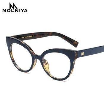 MOLNIYA 2019 Moda Okuma Gözlük Optik Gözlük Yeni Gözlük Kadın Çerçeve Ultra Hafif Çerçeve Şeffaf Gözlük