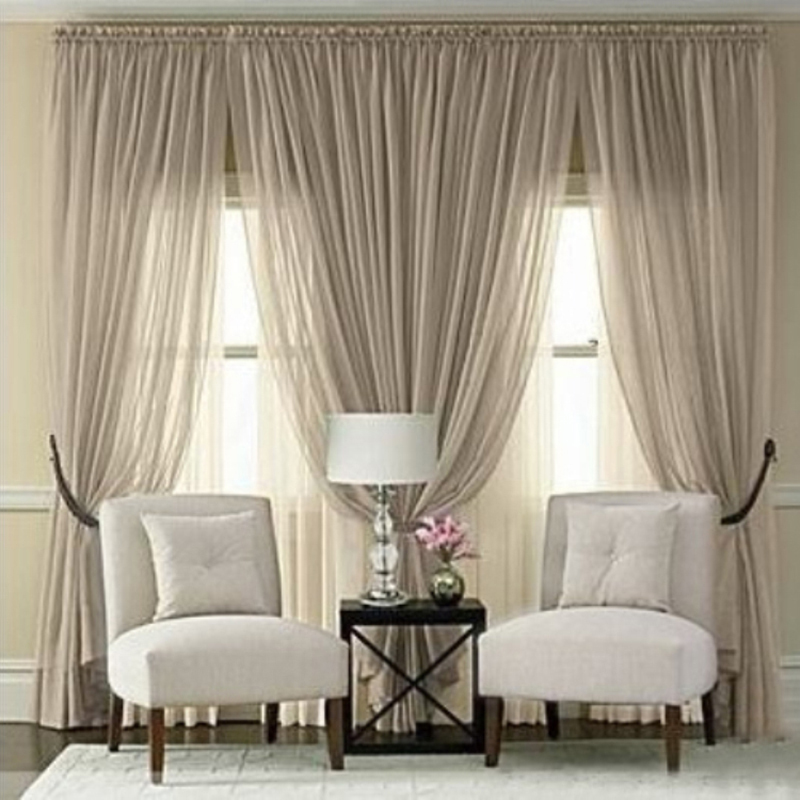 Solid Cortina Noble Floral Window Tulle Curtains Voile Sheer Curtain For Bedroom Cefa Voile