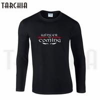 TARCHIIA Brand Eur Size Long Sleeve Tee Game Of Thrones Winter Is Coming STARK Print Men