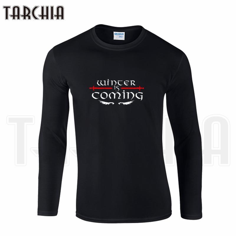 TARCHIIA Brand Eur Size Long Sleeve Tee Game of Thrones Wints