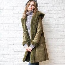 Быстрая Доставка Long Turn Down Воротник Army Green С Длинным Рукавом Мода Двойной Breated Толщиной Манто Femme Парки Для Женщин Зимой