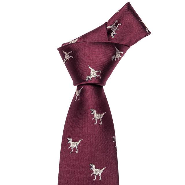 Dinosaur silk necktie set