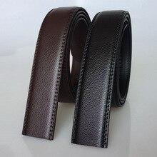 New Mens Belts Casual Modis Split Leather Belt Men Fashion Black Brown Suit NO Buckle Solid Color for 110cm -125cm