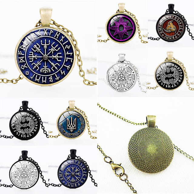 a90e4a802 Necklace Types Jewelry Women Runes Unisex Viking Bronze Nordic 18 Pendant  Sale Compass 1PC Pirate Retro Vintage Norse Gift