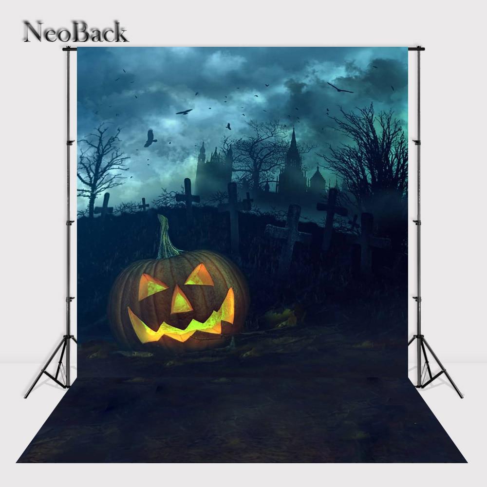 NeoBridal 5x7ft New Born baby Halloween Photo background Celebrity Background Halloween Pumpking Studio Photo Backdrops P2486