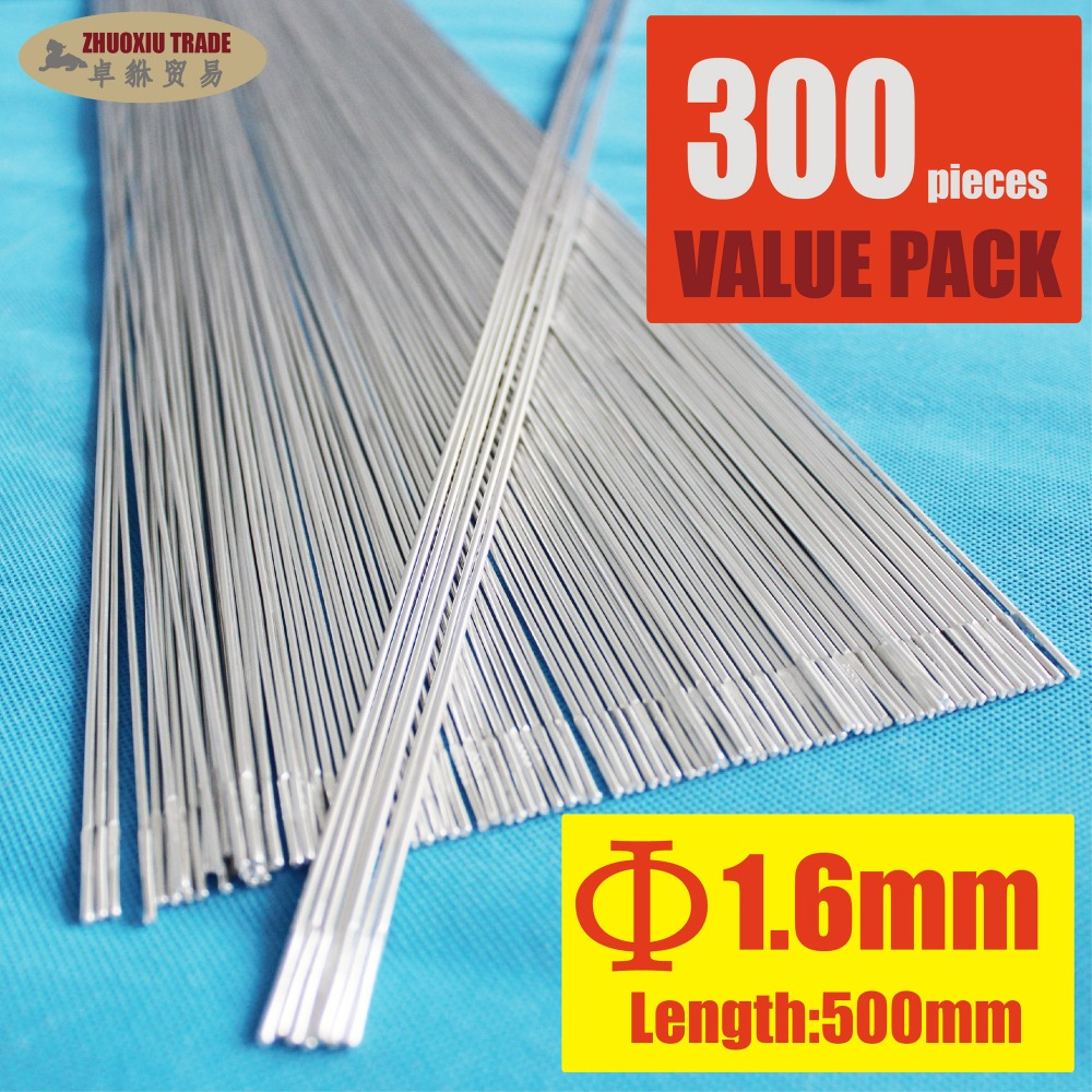 Pack of 300 Aluminum Brazing Rod Wire Electrode 1.6x500mm 1/16 inch for case aluminum weld(AR-16-300) e cap aluminum 16v 22 2200uf electrolytic capacitors pack for diy project white 9 x 10 pcs