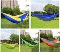 Surtido de Colores Colgando de Dormir Cama Tela de Nylon De Paracaídas Hamacas Que Acampan Al Aire Libre Doble Persona Hamaca Cama Abatible Portátil