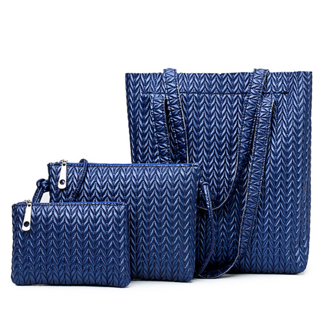 SMOOZA  Women Bag Set Large Capacity Female Handbag Top-Handle  Fashion Shoulder Bag Purse Ladies PU Leather Crossbody Bag