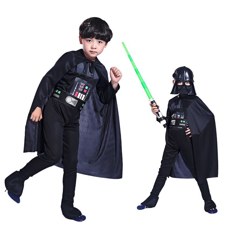 Halloween Costume boys clothing black ice warrior role-playing Star Wars hero costume stage costumes Children party