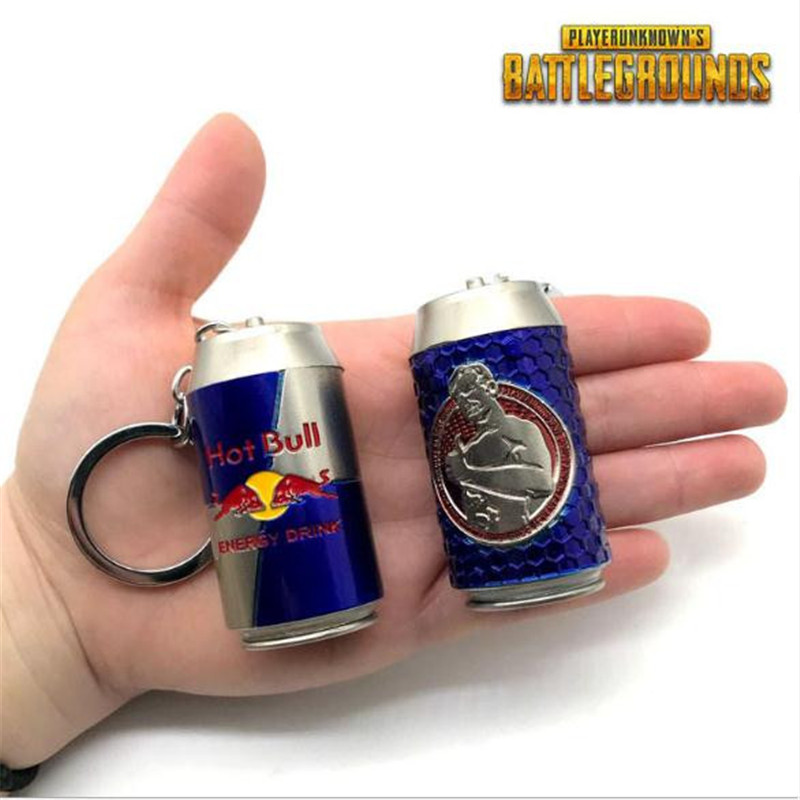 Game PUBG Playerunknown's Battlegrounds Cosplay Key Chain Energy Drink Weapon Model Christmas Party Halloween Costume For Adult