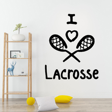 NEW Sports Lacrosse Removable Art Vinyl Wall Stickers Sticker Room Decoration