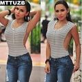 MTTUZB estilo Verão mulheres sexy Side Slit mangas tops tanque de lady tops S M L XL