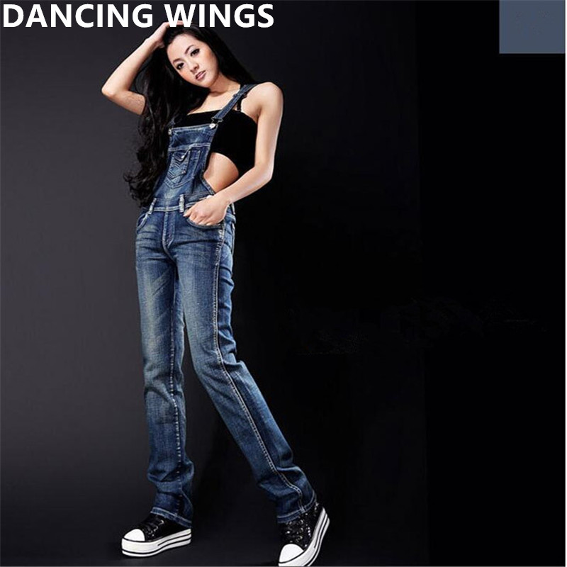European and American Style Women Jeans Jumpsuit Spring Casual Vintage Skinny Washed Denim Overalls Women Clothing
