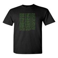 T-Shirt Novelty Binary Funny Computer Programmer Math Adult Unisex Mens T-Shirt Black High Quality Casual Clothing