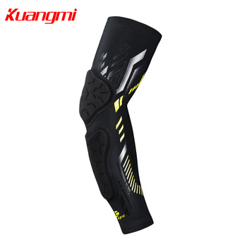 Kuangmi 2 PCS Elbow Support Sleeve Protector for Weightlifting Tennis Brace Gym Power Crashproof Sport Basketball Elastic Pads