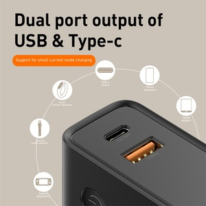Image 5 - Baseus 10000mah Power Bank With USB Plug Quick Charge Powerbank Type C USB PD3.0 QC Fast Charger Portable Wall Charger For Phone