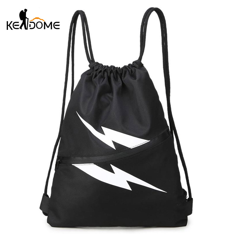 Gym Bag Jalandhar: Gym Bag Men Women String Backpack Outdoor Leisure