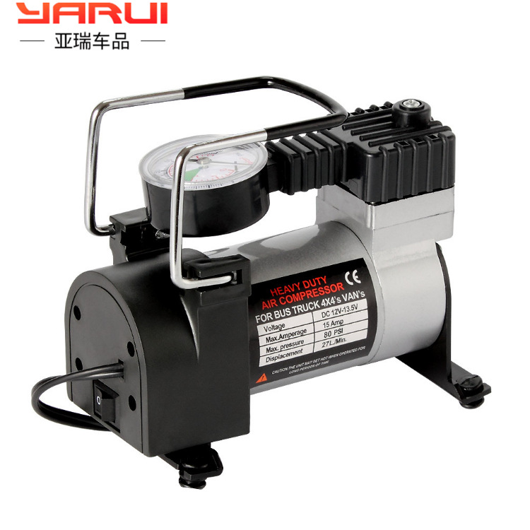 Single Cylinder Pneumatic Pump Convenient High-power  Automobile Tyres 12V On-board