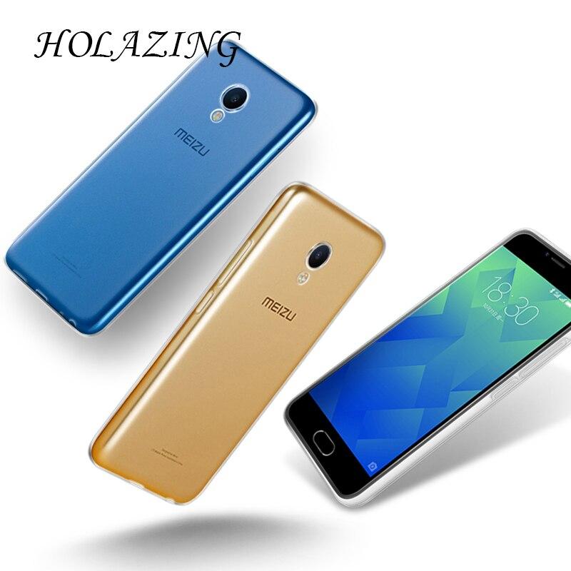 Holazing оптовая продажа прозрачный гель ТПУ Резиновая Мягкий силиконовый чехол для Meizu M5 5.2 ультра тонкий защитный кожного покрова