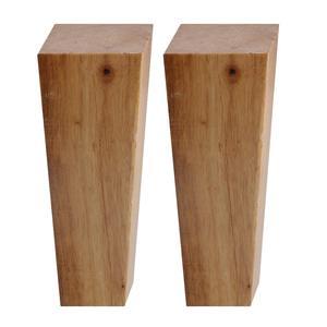 Image 3 - 150x58x38 MM meubles en bois armoire jambe Angle droit trapézoïdal pieds Lifter remplacement pour canapé Table lit ensemble de 4