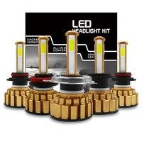 canbus שגיאה חינם 2pcs H7 H11 H8 H9 9005 9006 H4 LED רכב נורות 80W מוארת פנס מנורה CANbus שגיאה חינם מפענח 4-צדי אורות ערפל אוטומטי זוהר (1)