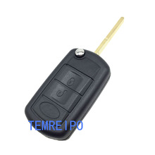 Flip remote Key Shell For Land Rover LR3 Keyless Entry Key Case For range rover Sport Discovery Key Fob Cover 2 buttons uncut blade keyless entry remote key shell case for rover land rover freelander zs zr 200 400 25 45 refit key shell