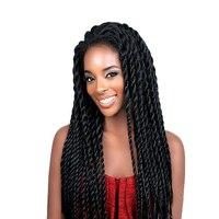 Feibin Synthetic Lace Front Wig Afro 2x Twist Braids Wigs For Black Women