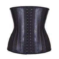 Latex Waist Trainer Corset Belly Slimming Underwear Belt Sheath Body Shaper Modeling Strap 25 Steel Boned