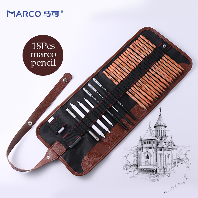 27pcs Sketch Pencil Set Professional Sketching Drawing Kit Wood Pencil Pencil Bags For Painter School Students Art Supplies