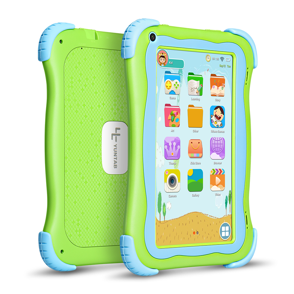 цена на Yuntab 7 inch Q91 Kids tablet PC Allwinner A33 Quad Core Android 5.1 Tablet Dual camera Capacitive touch screen 1024*600(green)