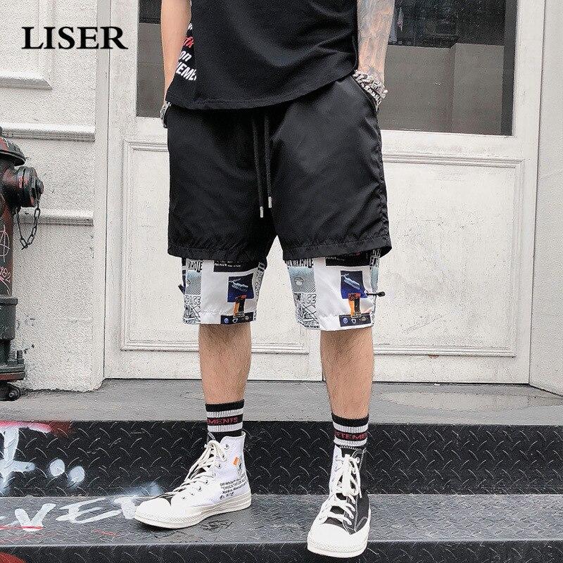 Liser Shorts Men 2019 Summer Joggers Hip Hop Shorts Streetwear Sweatpants Camo Pants Cotton Casual Short Pants