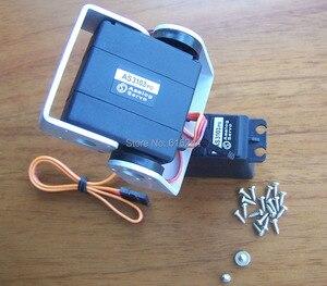 Image 1 - Бесплатная доставка 2DOF робот FPV панорамирование/наклон для DIY камеры платформы 5,5 кг Крутящий момент Аналоговый сервопривод Крепление камеры для самолета FPV пластик