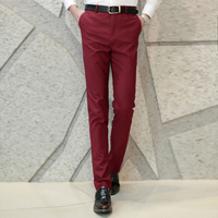 XMY3DWX fashion men Pure color business Suit pants/Male high-end High quality leisure trousers/Men casual pants 1